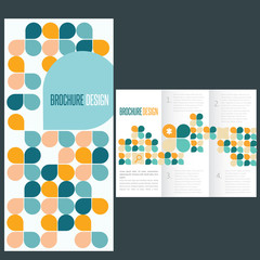 Brochure template whit flat icons