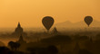 Sunrise mist over the plains of Bagan - Myanmar