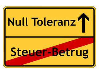 Null Toleranz bei Steuer-Betrug!