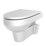 realistic 3d render of toilet