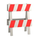 realistic 3d render of traffic barrier