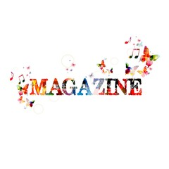 "Colorful vector ""MAGAZINE"" ; background with butterflies"