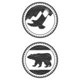 signs with a bear and an eagle