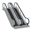 cartoon image of escalator stairs