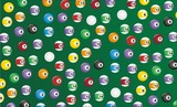 billiard seamless pattern