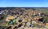 General view of typical Catalan town. Cardona