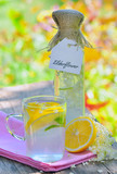 Elderflower and lemon juice