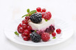 piece of cake with fresh berries