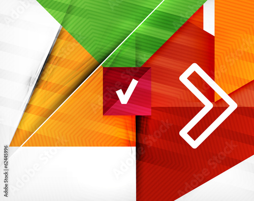 Business geometric shaped abstract background