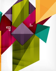 Colorful geometric 3d background