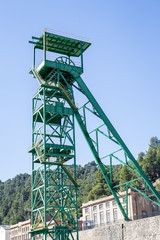 Disused tower of the potash mine of Cardona