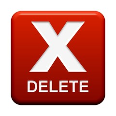 Roter Button: X Delete