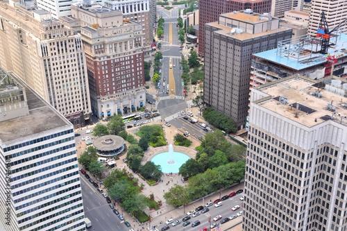 Philadelphia aerial view with JFK Plaza