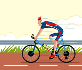 Cyclist riding Sports Cycle
