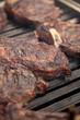 Rib Eye Steaks auf dem Grill