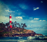 Kovalam (Vizhinjam) lighthouse. Kerala, India