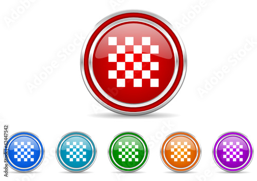 chess icon vector set