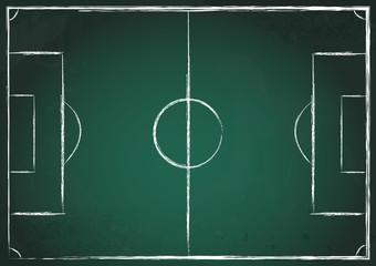 Fußballfeld grün