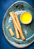 Grissini bread sticks with olive oil