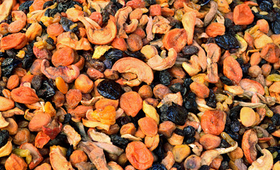 Various dried fruit for compote