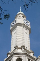 Legislatura building clock tower in Buenos Aires, Argentina