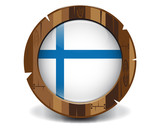 Finland wood button
