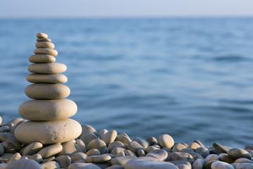 spa stone on sea coast