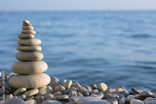 spa stone on sea coast