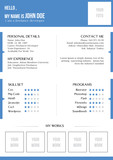 Creative blue resume