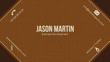 Brown creative business card