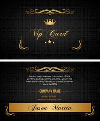 Black vip card