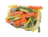 Frozen Mixed Vegetables On White Background