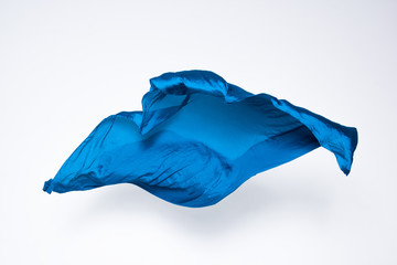abstract blue fabric in motion
