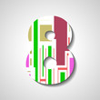 abstract illustration, number collection - 8
