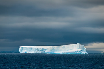 Iceberg in southern ocean off antarctic peninsula