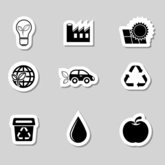 Ecology Icons Set as Labes