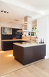 beautiful interiors of a modern house, domestic kitchen