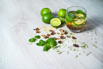 Mojito drink still life