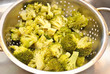 Fresh Broccoli in a Strainer