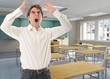 Furious teacher