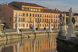 Statue and the Canal Park of Prato della Valle Padova