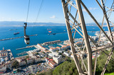Cable Car approaching Rock of Gibraltar