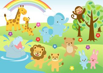 子供向け動物イラスト