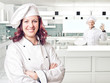 canvas print picture - woman chef