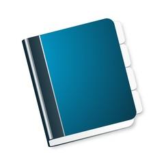 Blue diary icon