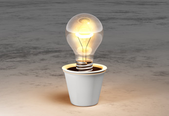 Light bulb in a vase