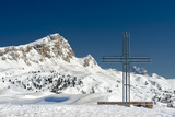 cross on high mountain