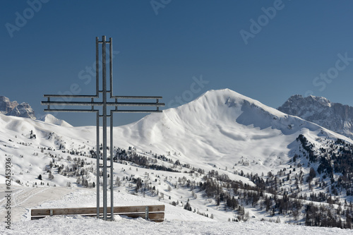 iron cross on high mountain