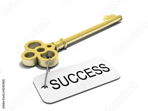 "a key with word ""success"" , business concept"