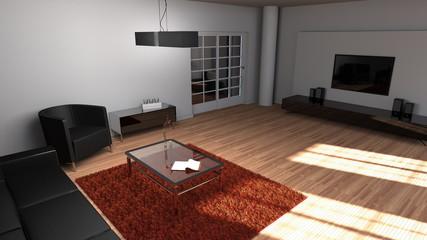 Modern eingerichtetes Wohnzimmer
